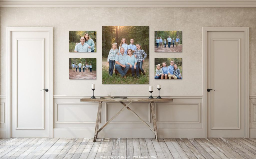 Canvas Collage for family portraits